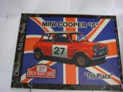 "MINI COOPER ""S"" RALLY CAR UNION JACK DESIGN LARGE METAL SIGN 30cm X 41cm"