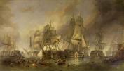 The Battle of Trafalgar Seascape by William Clarkson Stanfield Print 48 x 28 cm