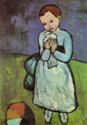 PICASSO c1901 Child holding a Dove 250gsm ART CARD Gloss A3 Reproduction Poster