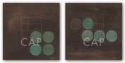 Aqua Lily Pads Set by Karen Lorena Parker Art Print Poster