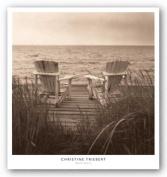 Beach Chairs by Christine Triebert Art Print Poster