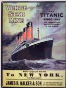 Original Metal Sign Co. Titanic to New York Metal Wall Sign