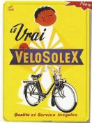 FRENCH VINTAGE METAL SIGN 20x15cm RETRO AD VELOSOLEX BICYCLES