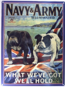 Original Metal Sign Co. Army and Navy Illustrated Metal Wall Sign