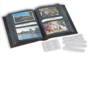 Lighthouse Multipurpose album for 200 postcards,letters, standard photos or 100 panorama photos, blue
