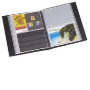 Lighthouse Postcard album with 50 clear pockets, red