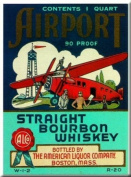 FRENCH VINTAGE METAL SIGN 20X15cm ALCOHOL ADVERTISING WHISKY AMERICAN LIQUOR