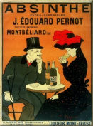 FRENCH VINTAGE METAL SIGN 40x30cm RETRO AD ALCOHOL ABSINTH PERNOT MONTBELLIARD