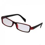 Red Black Plastic Full Rim Rectangle Lens Plain Eyeglasses Plano Glasses for Children
