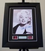Marilyn Monroe Signed + Marilyn Monroe Film Cells Framed