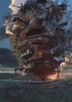 HOWL'S MOVING CASTLE - JAPANESE TEXTLESS MOVIE FILM WALL POSTER - 30CM X 43CM