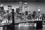 Empire 105530 New York Manhattan Brooklyn Bridge Black and White Poster 91.5 x 61 cm