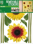 Sunflowers - Yellow - Removable Wall Stickers - 4 Sheets - 42x30cm