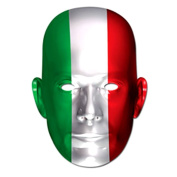 Party Maske - Party Mask Italy Flag