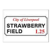 Strawberry Field Road Sign postcard