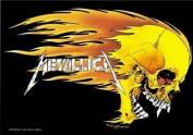 Metallica Textile Flag - Skull & Flames