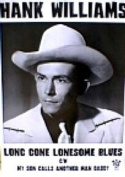 Hank Williams (Long Gone Lonesome Blues) Music Poster Print - 60cm X 90cm