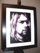 Kurt Cobain Limited Edition Framed Canvas Art Print