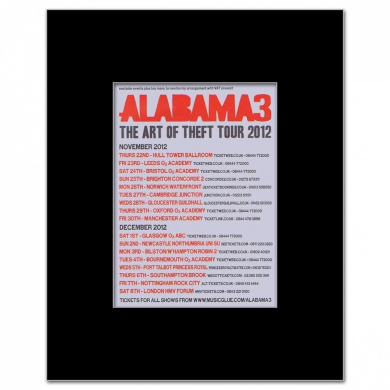 ALABAMA 3 - UK Tour 2012 - 13.5x10cm