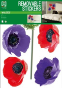Anemone - Colourful Flowers - Removable Wall Stickers - 1 Sheet - 70x50cm