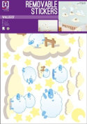Baby Blue Sheep - Boys Room - Removable Wall Stickers - 1 Sheet - 70x50cm
