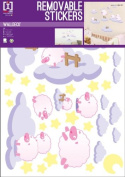 Baby Pink Sheep - Girls Room - Removable Wall Stickers - 1 Sheet - 70x50cm