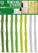 Bamboo - Shoots - Removable Wall Stickers - 1 Sheet - 70x50cm