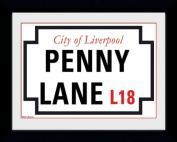 The Beatles Penny Lane Framed Photographic Print