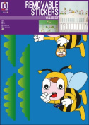 Bees - Flying Around - Removable Wall Stickers - 4 Sheets - 42x30cm
