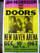 Ron's Past and Present Jim Morrison And The Doors Concert At The New Haven Arena 1967 Poster
