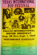 Ron's Past and Present Texas International Pop Festival Poster