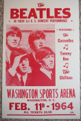 Ron's Past and Present The Beatles In Their 1St Us Performance Concert Poster