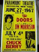 Ron's Past and Present The Doors With Jim Morrison And Chuck Berry 1967 Concert Poster