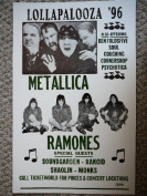 Rons Past and Present Lollapalooza '96 W/ Metalllica And The Ramones Poster