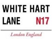 TOTTENHAM HOTSPUR FC MINI METAL WHITE HART LANE STREET SIGN