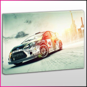 Cars0434 Ford Dirt 3 Rally Car Framed Ready To Hang Canvas Print, Cars, Pop Street Wall Art, Picture