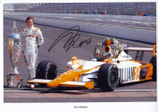 Dan Wheldon Signed Autographed A4 Photo Print Poster