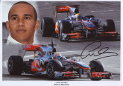 Lewis Hamilton Signed Autographed A4 Photo Print Poster