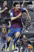 Poster Football Barcelona Messi Collage 2011 / 12 Season and Accessory Item
