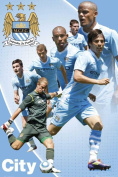 Poster Football Manchester City Players 11/12 with Accessory Item