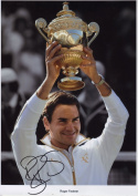 Roger Federer Signed Autographed A4 Photo Print Poster