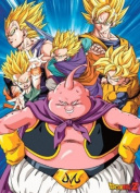 DRAGON BALL Poster DBZ/ Buu VS Super Saiyans