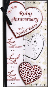 Ruby Anniversary Card - 'On Your Ruby Anniversary With Special Wishes' - Great Quality Card