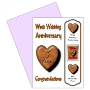 On Your 5th Wedding Anniversary Card With Removable Magnet Gift - 5 Years - Wood Anniversary For Family & Friends