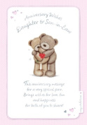Gold Daughter & Son-in-Law Anniversary Card Bears 19cm x 14cm Code 684D