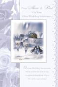 Mum & Dad Silver Wedding Anniversary Greeting Card