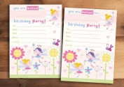 20 Children's Birthday Party Invitations Flower Fairy