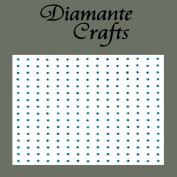 240 x 1mm Dark Green Diamante Self Adhesive Rhinestone Craft Embellishment Gems - created exclusively for Diamante Crafts