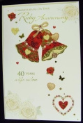On Your Ruby (40TH) Anniversary, Anniversary Greetings Card