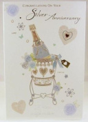 On Your Silver (25TH) Anniversary, Anniversary Greetings Card